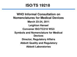 ISO/TS 19218