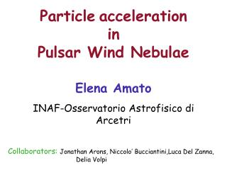 Particle acceleration  in  Pulsar Wind Nebulae