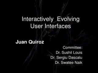 Interactively  Evolving  User Interfaces