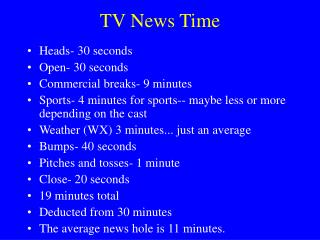 TV News Time