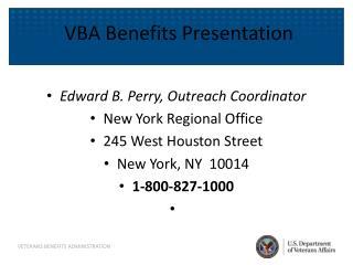 VBA Benefits Presentation