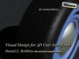 Visual Design for 3D User Interfaces