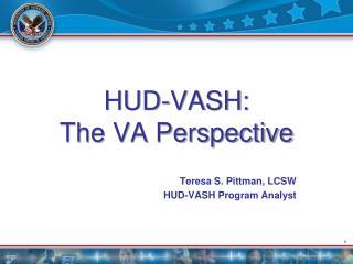 HUD-VASH:  The VA Perspective