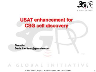 USAT enhancement for CSG cell discovery