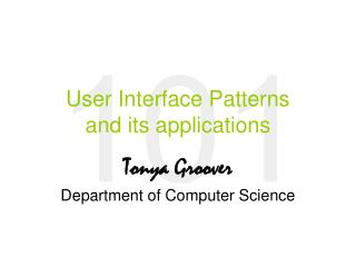User Interface Patterns and its applications