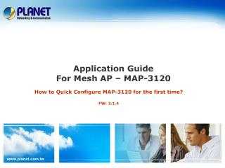 Application Guide  For Mesh AP – MAP-3120