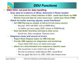 DDU Functions