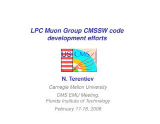 LPC Muon Group CMSSW code development efforts