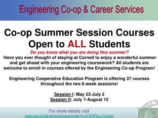 Engineering Co-op & Career Services