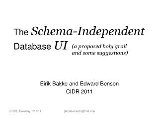 The  Schema-Independent Database  UI
