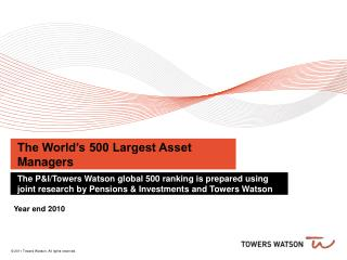 The World's 500 Largest Asset Managers