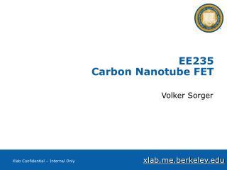 EE235 Carbon Nanotube FET