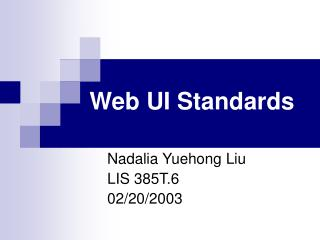 Web UI Standards