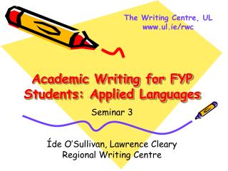 Academic Writing for FYP Students: Applied Languages
