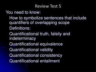 Review Test 5