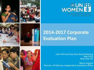 2014-2017 Corporate Evaluation Plan