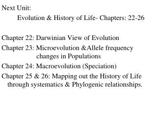 Macroevolution  Speciation