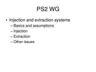 PS2 WG