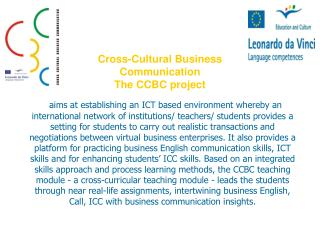 Cross-Cultural Business Communication The CCBC project