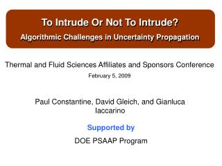 To Intrude Or Not To Intrude? Algorithmic Challenges in Uncertainty Propagation
