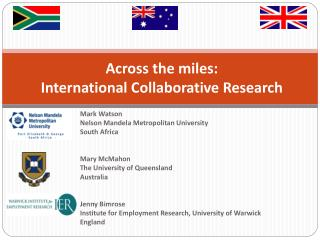Across the miles: International Collaborative Research