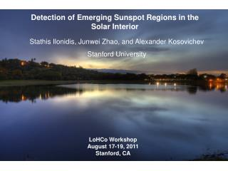 Detection of Emerging Sunspot Regions in the Solar Interior