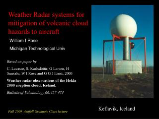Weather Radar systems for mitigation of volcanic cloud hazards to aircraft