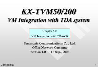 KX-TVM50/200 VM Integration with TDA system