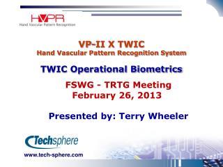 VP-II X TWIC Hand Vascular Pattern Recognition System