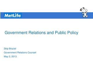 Government Relations and Public Policy