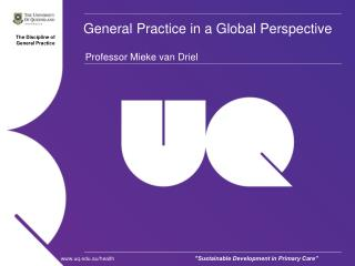 General Practice in a Global Perspective