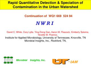 Rapid Quantitative Detection & Speciation of Contamination in the Urban Watershed