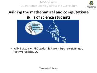 MAA Session   Quantitative Literacy across the Curriculum