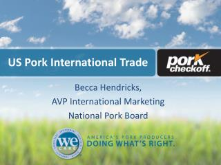 US Pork International Trade