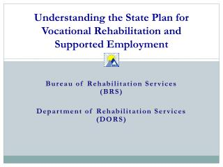 Understanding the State Plan for Vocational Rehabilitation and Supported Employment