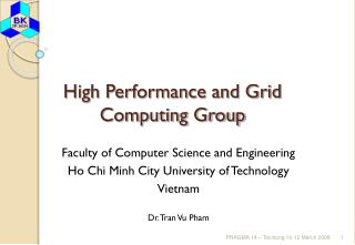 High Performance and Grid Computing Group