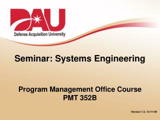 Seminar: Systems Engineering