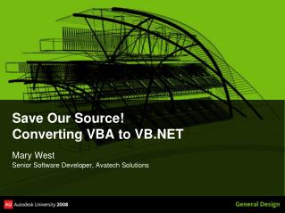 Save Our Source! Converting VBA to VB.NET