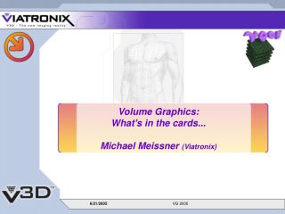 Volume Graphics:  What's in the cards... Michael Meissner  (Viatronix)