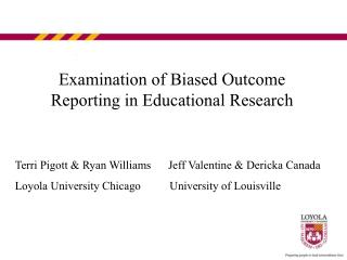 Examination of Biased Outcome Reporting in Educational Research