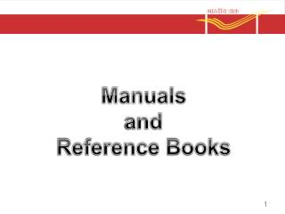 Manuals  and  Reference Books