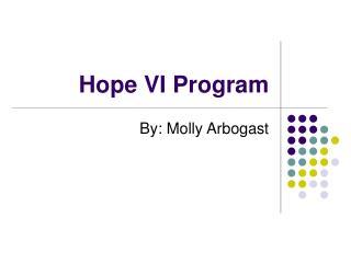 Hope VI Program