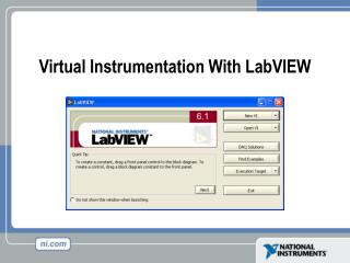 Virtual Instrumentation With LabVIEW