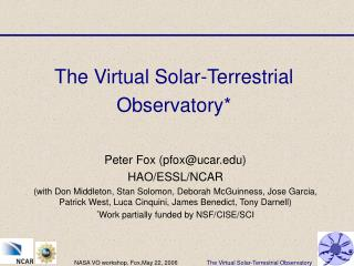 The Virtual Solar-Terrestrial Observatory*