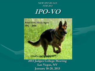 NEW IPO RULES FOR 2012 IPO-VO