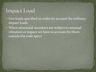 Impact Load