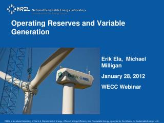 Operating Reserves and Variable Generation