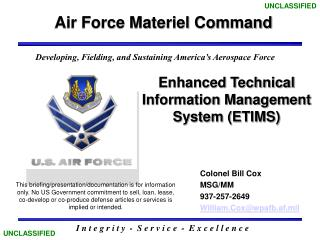 Enhanced Technical Information Management System (ETIMS)