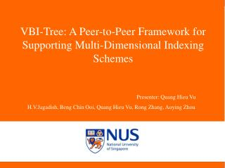 VBI-Tree: A Peer-to-Peer Framework for Supporting Multi-Dimensional Indexing Schemes