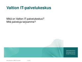 Valtion IT-palvelukeskus